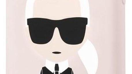 Kryt na mobil Karl Lagerfeld pro Apple iPhone 11 růžový (KLHCN61SLFKPI)