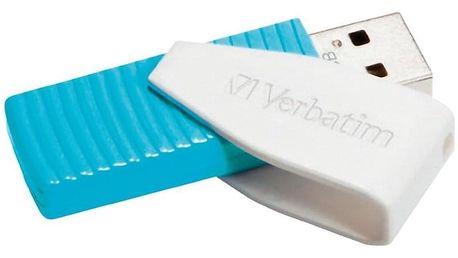 USB Flash Verbatim Store 'n' Go Swivel 8GB modrý (USB 2.0) (49812)