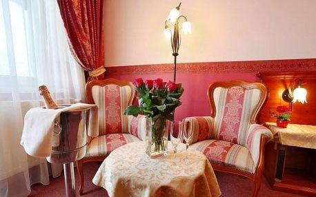 Piešťany v Grand Hotelu Sergijo **** s vnitřním i venkovním wellness, 4 procedurami, posezením a plnou penzí