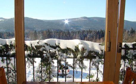 Zima v Hotelu Podlesí s bazénem, vířivkou či masáží