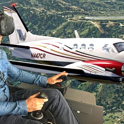 Virtuální realita: 60 min. na leteckém simulátoru