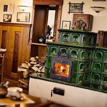 Pobyt pro dva na tři dny s penzí a senzačním degustačním menu v Lipnici nad Sázavou