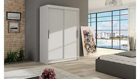Velká šatní skříň MIAMI I bílá šířka 120 cm