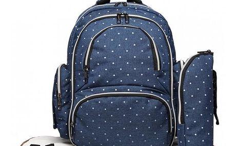 SET: Mateřský námořnicky modrý batoh na kočárek Dario 6706D2