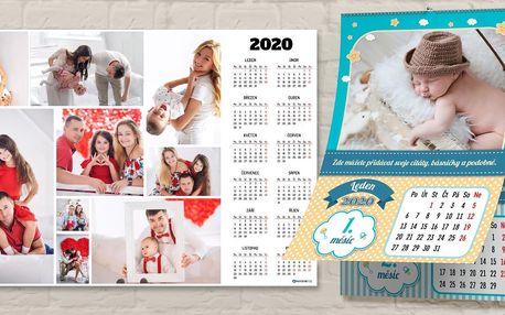 Nástěnné fotokalendáře velikosti od A4 až po A1