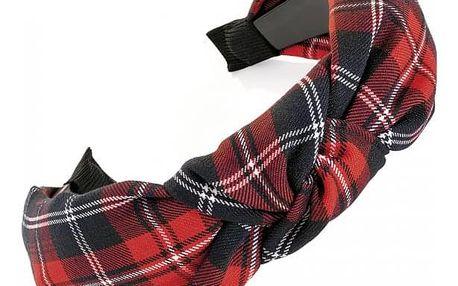 Červená čelenka do vlasů Chanty 33125