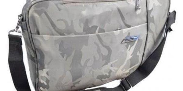 Brašna/batoh na notebook šedý maskáč