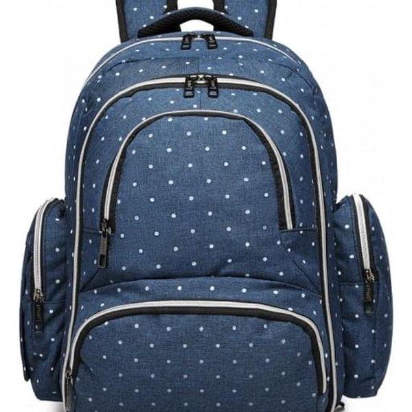 SET: Mateřský námořnicky modrý batoh na kočárek Dario 6706D24