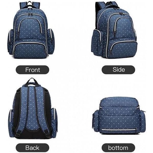 SET: Mateřský námořnicky modrý batoh na kočárek Dario 6706D25