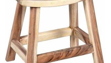 Divero 6142 Stolička z masivního SUAR dřeva