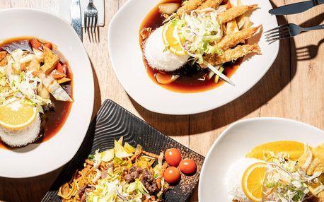 Asijské menu dle výběru: krevety, kuře i tofu