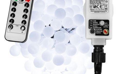 VOLTRONIC® 67307 Párty osvětlení - 10 m, 100 LED diod, studeně bílé + ovladač