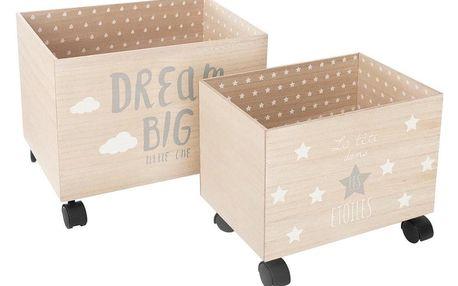 Atmosphera Créateur d'intérieur Kontejner pro uchovávání, box na hračky, kontejner na hračky, taška na hračky, 2 ks