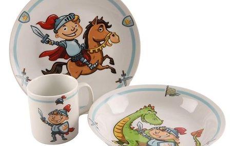 Orion rytíř 3 ks 3dílná dětská jídelní sada Rytíř