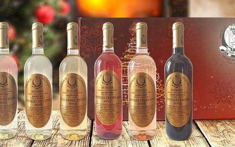Dárková kolekce 6 přívlastkových vín Hlávka