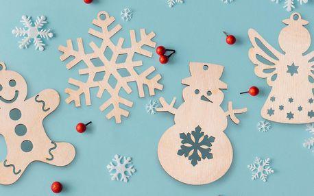 Dřevěné vánoční ozdoby nejen na stromeček