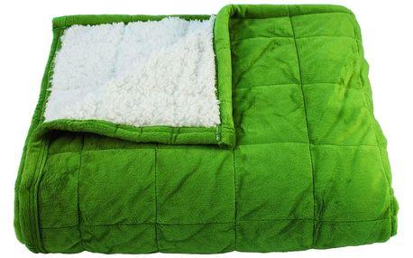 BO-MA Trading Beránková deka Sandra zelená, 150 x 200 cm