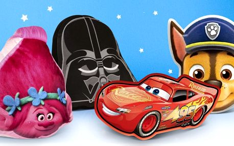 Polštářky s oblíbenými hrdiny: Darth Vader i Cars