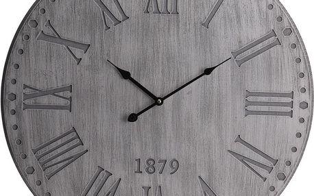 Home Styling Collection Kulaté nástěnné hodiny s MDF, 60 cm