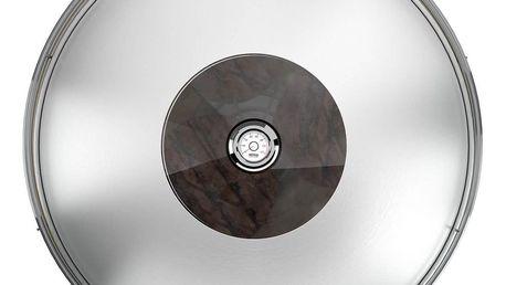 Poklice nerez/sklo s teploměrem - 33 cm - Feuerdesign
