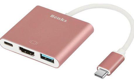 Benks USB-C 3 v 1 HUB