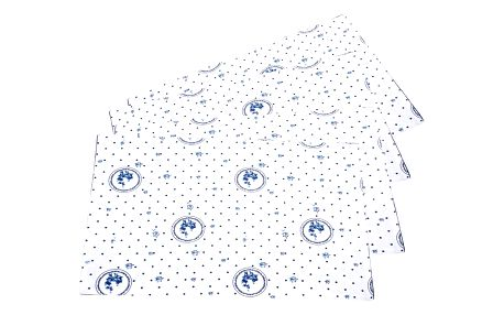 Trade Concept Prostírání Country puntík modrá, 33 x 45 cm, sada 4 ks