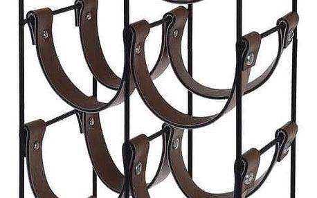 Kovový stojan na 10 lahví 24 x 16 x 60 cm