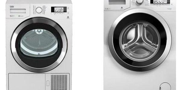 Set (Sušička prádla Beko DPY 8506 GXB1) + (Pračka Beko Superia WMY 71243 CS PTLMB1) + DOPRAVA ZDARMA