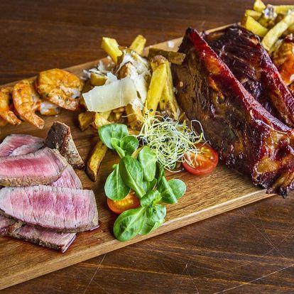 Masové prkno v irské restauraci: žebra i steaky