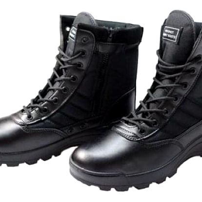 Boty vysoké černé vel. 43