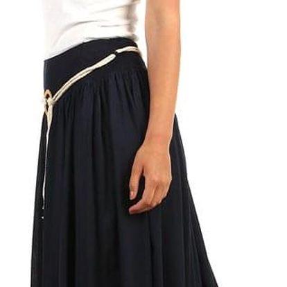 Romantická dámská maxi sukně tmavě modrá