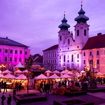 Celodenní koupání v termálních lázních Győr