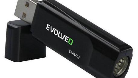 TV tuner Evolveo Sigma T2, FullHD DVB-T2 H.265/HEVC USB tuner černá (SGA-T2-HEVC)