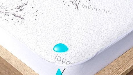 4Home Lavender Nepropustný chránič matrace s lemem, 70 x 160 cm