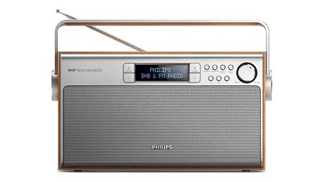 Philips AE5220 stříbrný/dřevo