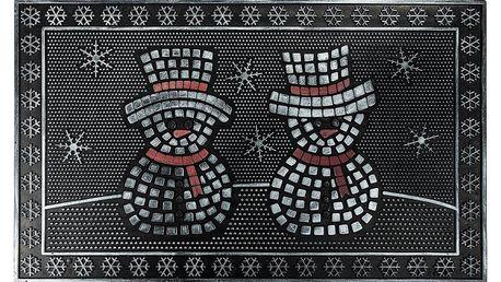 BO-MA Trading Gumová rohožka Sněhuláci, 40 x 60 cm