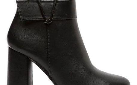Dámské černé kotníkové boty Vendeta 135