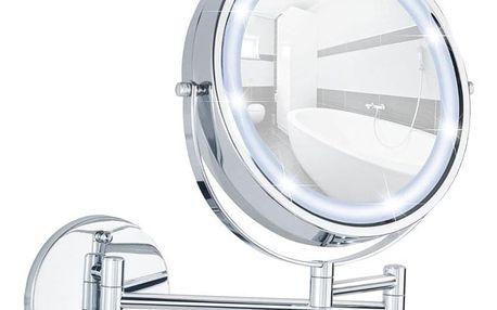 Kosmetické zrcátko Power-Loc LUMI s LED podsvícením, zvětšení x5, WENKO