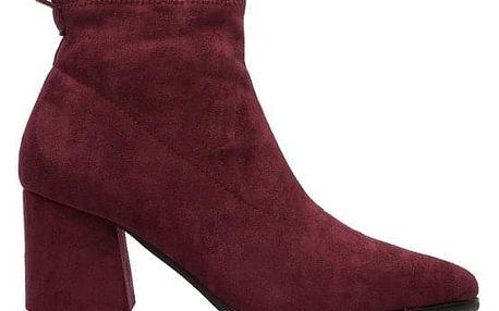 Dámské vínové kotníkové boty Alaky 138