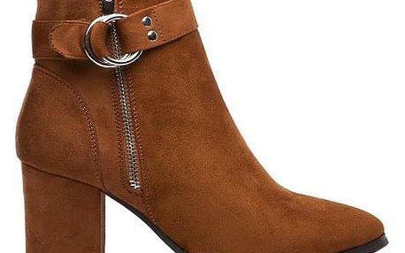 Dámské hnědé kotníčkové boty Rori 137