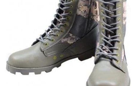 Boty vysoké maskáčové zelené vel. 42