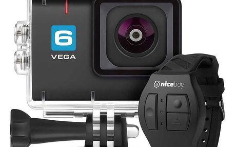 Outdoorová kamera Niceboy 6 + dálkové ovládání černá