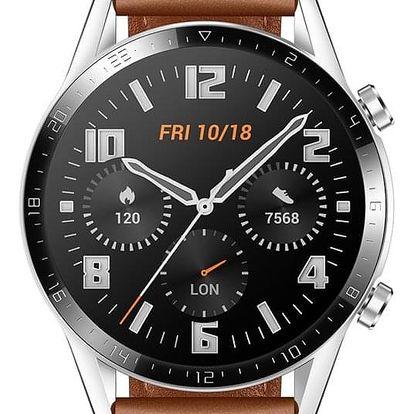 Chytré hodinky Huawei Watch GT 2 (46 mm) hnědé (55024470)