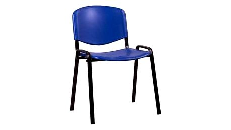 Konferenční plastová židle ISO Modrá