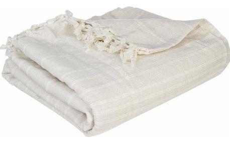 Atmosphera Bavlněná přikrývka v slonovinej barvě vhodná pro postel 230x250 cm