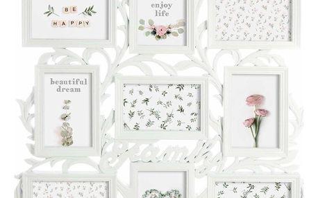 Emako Rámečky na fotografie, originální zdobený stromeček s 9 rámečky na fotografie, pohlednice nebo grafiku