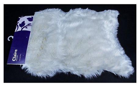 BO-MA Trading Kožešina Claire krémová, 60 x 90 cm, 45 x 45 cm