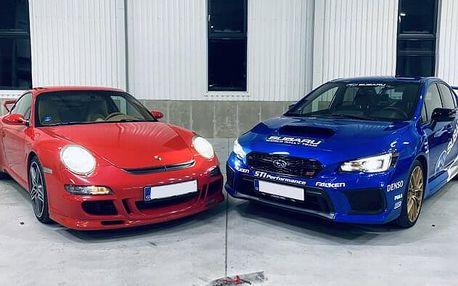 Jízda na Polygonu Brno v Subaru Impreza či Porsche GT3