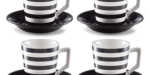 Sada na cappuccino STRIPES, 8 dílů, ZELLER
