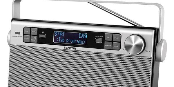 Radiopřijímač s DAB Sencor SRD 6600 DAB+ DAB / FM RÁDIO (35048617) stříbrný2